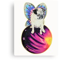 Puggerfly In Space Canvas Print