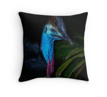 The Cassowary Throw Pillow