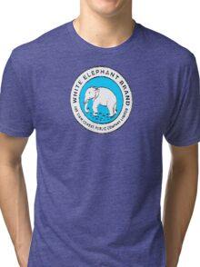 White Elephant - Blue Tri-blend T-Shirt