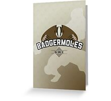 Ba Sing Se Badgermoles Greeting Card