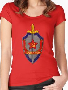KGB Shield 1 Women's Fitted Scoop T-Shirt