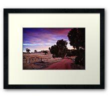 A Walk Down The Lane Framed Print