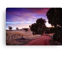 A Walk Down The Lane Canvas Print