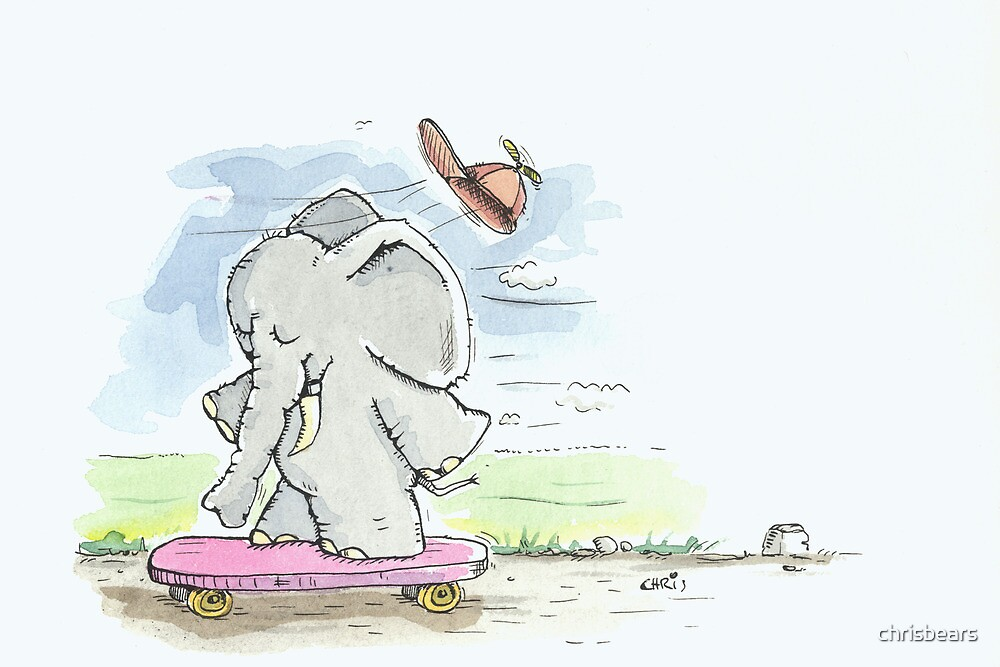 Elephant goes for a Ride by chrisbears