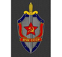 KGB Shield on Metal Photographic Print