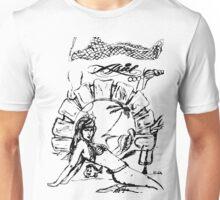 Mermaid Black and White Unisex T-Shirt