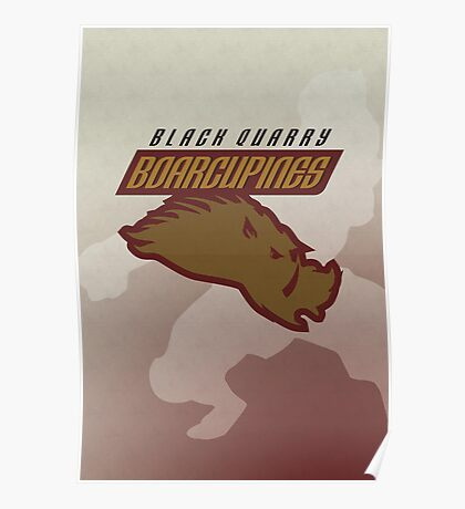 Black Quarry Boarcupines Poster