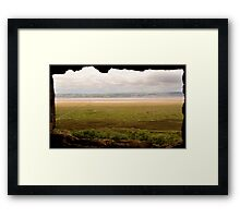 Gower Salt Marsh - As Seen From Weobly Castle Framed Print