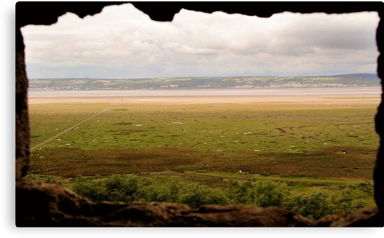 Gower Salt Marsh - As Seen From Weobly Castle by Samantha Higgs