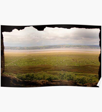 Gower Salt Marsh - As Seen From Weobly Castle Poster