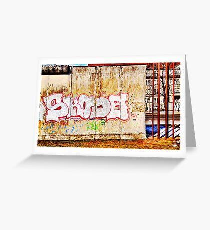 Berlin Wall Graffiti in Winter Greeting Card