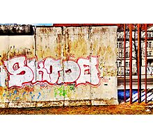 Berlin Wall Graffiti in Winter Photographic Print