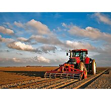 Planting potatoes Photographic Print