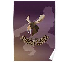 Makapu Moose Lions Poster