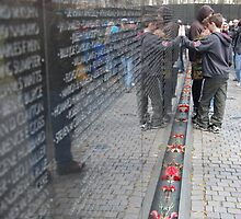 vietnam war memorial, washington dc by breeanne