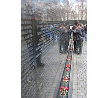 vietnam war memorial, washington dc Photographic Print