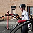 Uber cool Penny farthing dude by fixie