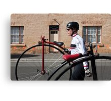 Uber cool Penny farthing dude Canvas Print