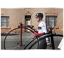 Uber cool Penny farthing dude Poster