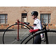 Uber cool Penny farthing dude Photographic Print