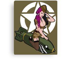 Army Punk Pin Up Canvas Print