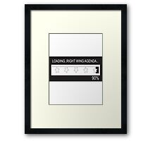 RAM Design: Loading Rightwing Agenda Plate #57 Framed Print