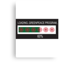 RAM Design: Loading Greenpeace Plate #57 Canvas Print