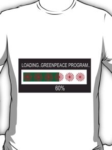 RAM Design: Loading Greenpeace Plate #57 T-Shirt