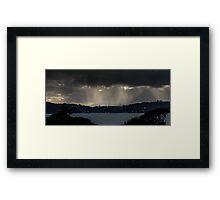 Beams Of Light Framed Print