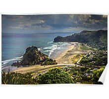 Piha Beach Poster