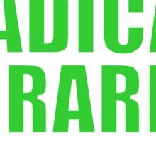 Radical Librarian (Green) Sticker