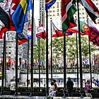The Flags of Rockefeller Plaza by Mikell Herrick