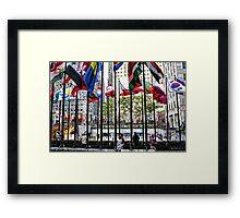 The Flags of Rockefeller Plaza Framed Print