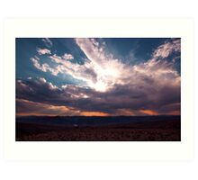 Sun shines through the Clouds Art Print