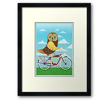 Owl Bicycle Framed Print