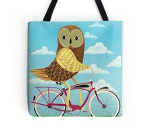 Owl Bicycle Tote Bag