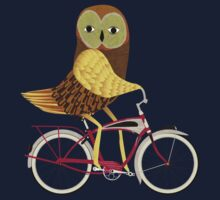 Owl Bicycle One Piece - Short Sleeve