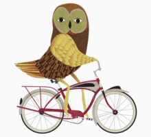 Owl Bicycle Kids Tee