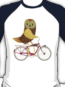 Owl Bicycle T-Shirt