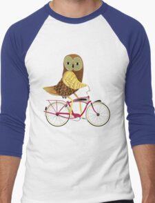 Owl Bicycle Men's Baseball ¾ T-Shirt