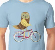 Owl Bicycle Unisex T-Shirt