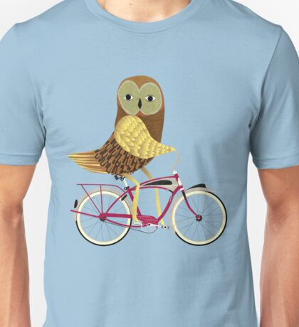 Owl Bicycle Unisex T-Shirt