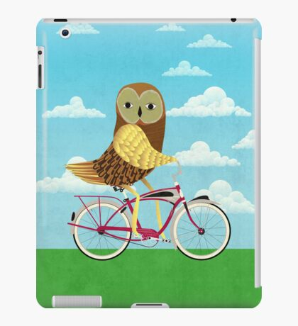 Owl Bicycle iPad Case/Skin