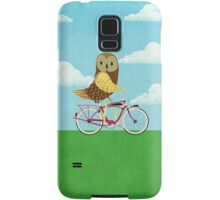 Owl Bicycle Samsung Galaxy Case/Skin