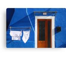 Cozy summer time in Burano, Venice Canvas Print