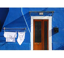 Cozy summer time in Burano, Venice Photographic Print