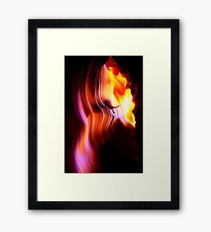 Light Curves Antelope Canyon Framed Print