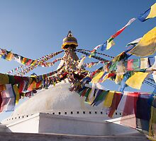 Bodnath / Boudhanath Stupa by Christopher Cullen