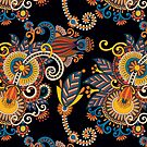 Paisley flowers by chachipe