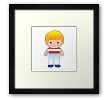 Poppy Austria Boy Framed Print